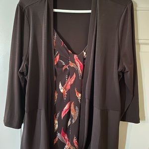 East 5th Attached 2-Pc Brown Polyester Top XL